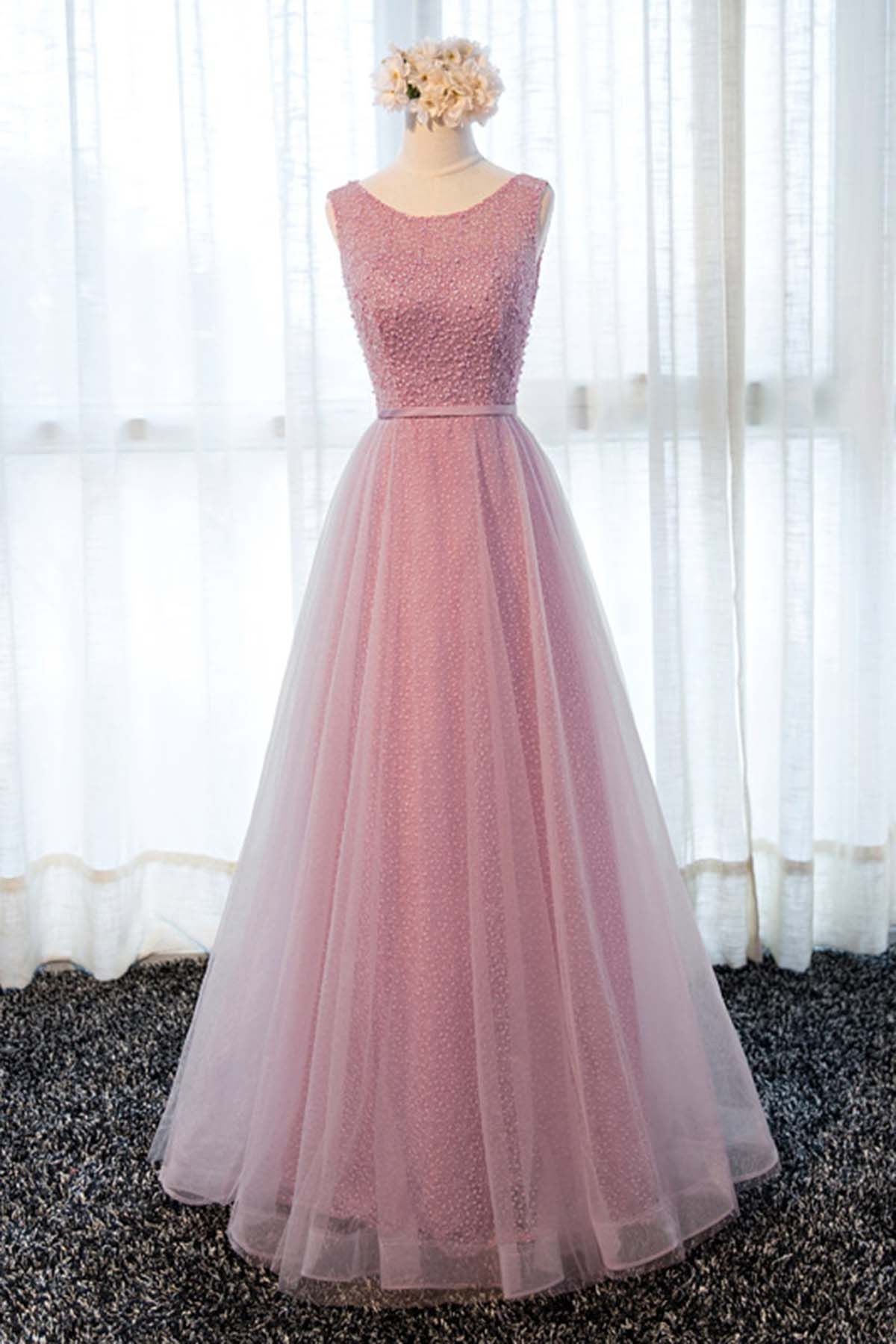 Pink Tulle Long Lace Halter Sweet 16 Prom Dress Long Spring Party Dresses From Girlsprom In 2019 Dresses Tulle Bridesmaid Dress Bridesmaid Dresses [ 1800 x 1200 Pixel ]