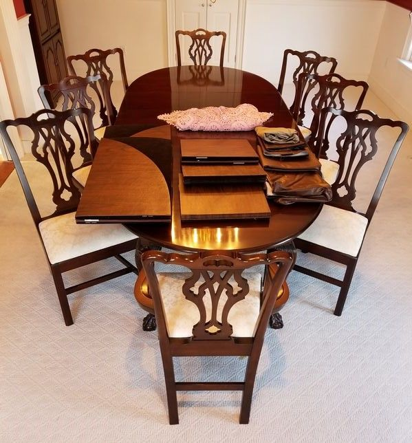 Dining Room Table Protective Pads Endearing Mahogany Oldtowne Dining Room Setstatton Includes Table 3 Decorating Inspiration