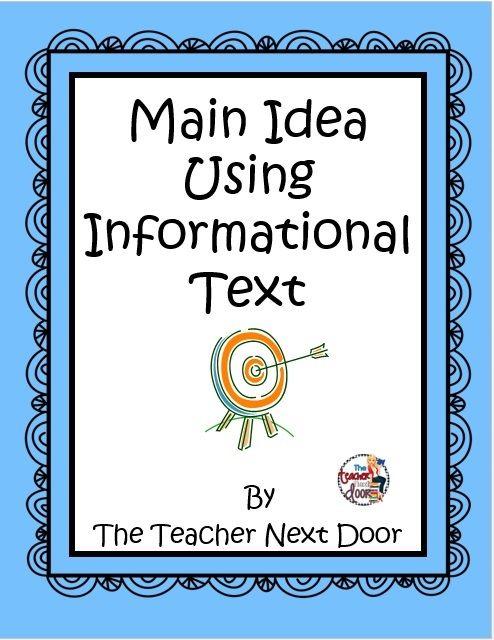 how to teach main idea