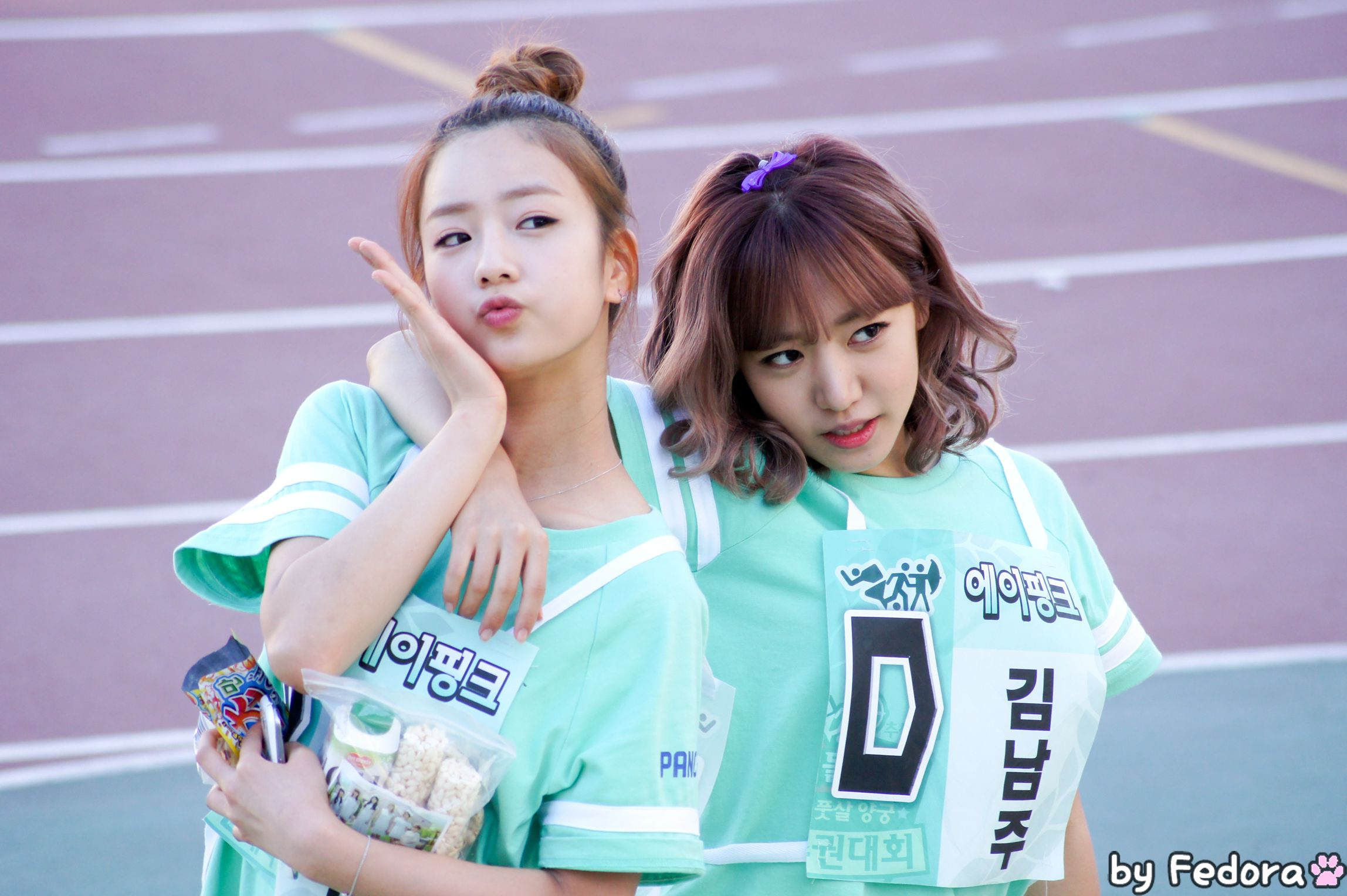 Apink Bomi And Namjoo Tv Show 2013 Idol Sports Athletics Tv Shows 2013 Tv Shows Baby Face
