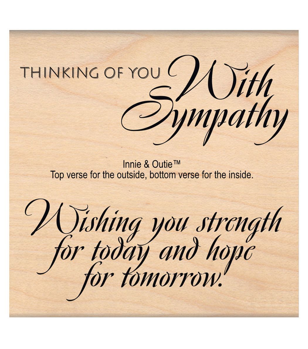 Mse My Sentiments Exactly Strength Hope Mounted Stamp 3 X3 25 Joann Sympathy Card Sayings Card Sayings Sympathy Quotes