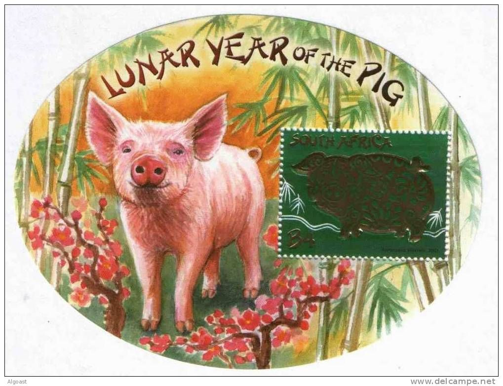 Pig LUNAR CHINESE YEAR South Africa FENG SHUI sheet MNH 2007