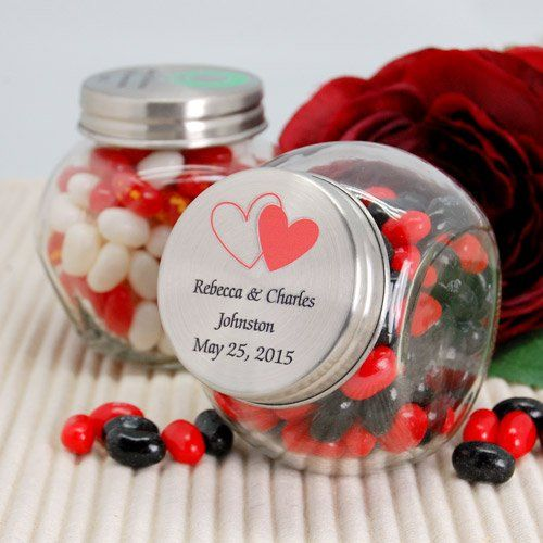 Personalized Glass Candy Jar By Beau Coup Favors Pinterest
