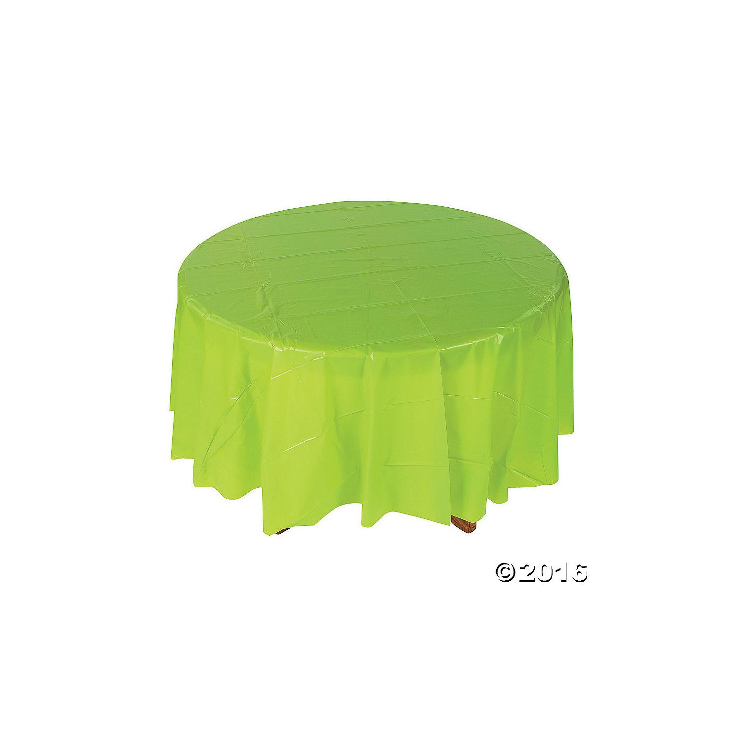 Lime Green Round Plastic Tablecloth