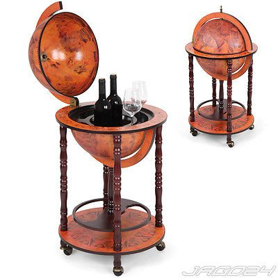 Globe Bar Minibar Wine Drinks Cabinet Trolley #beverage Stand #antique  #retro Sty,