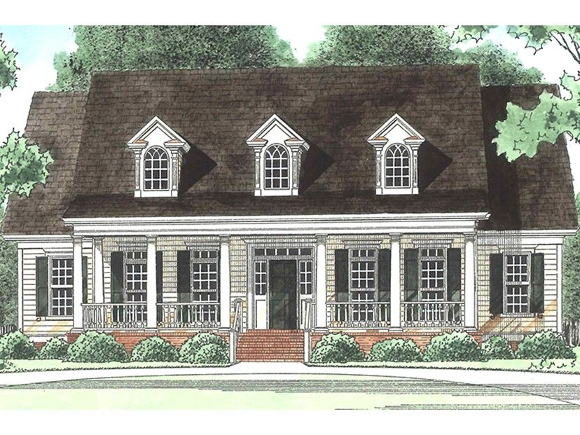 Southern Style House Plan - 4 Beds 3.5 Baths 3435 Sq/Ft ...