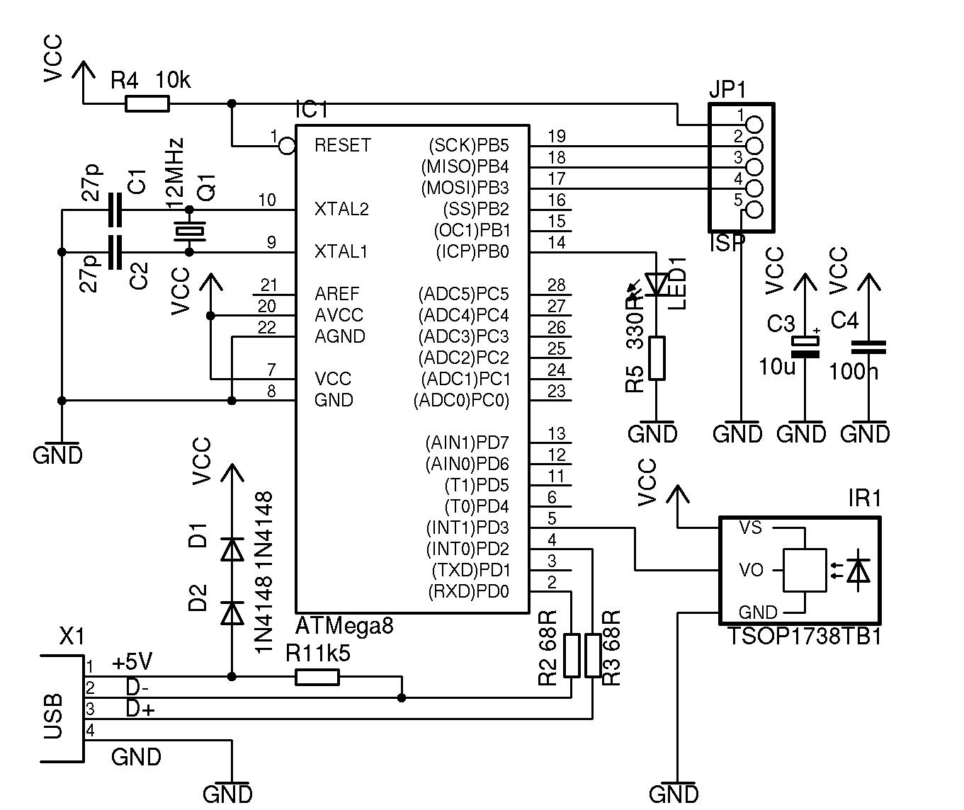 Infrahid Vamposdecampos2 Electronics Pinterest Arduino Electronic Schematic Diagram Circuits