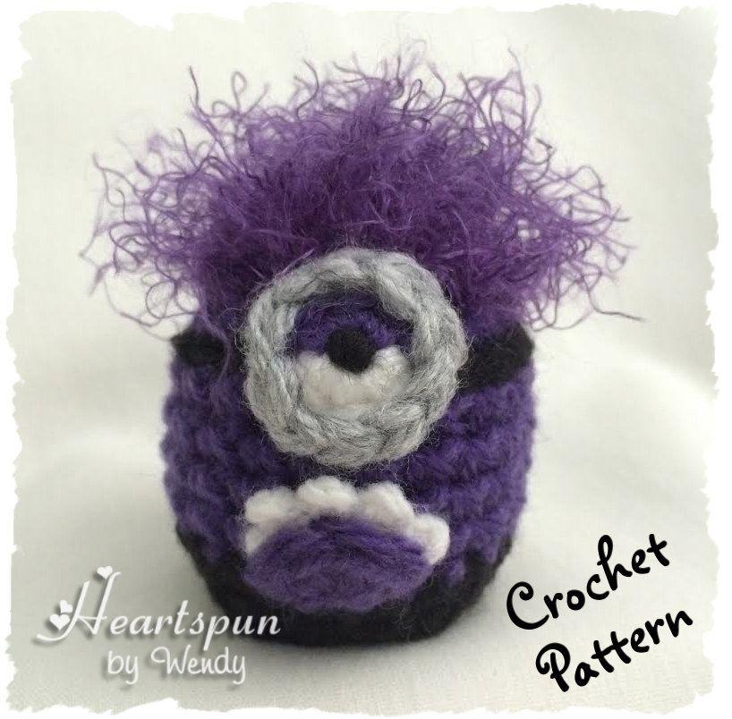 CROCHET PATTERN to make a Purple Minion EOS Lip Balm Holder, Pdf ...
