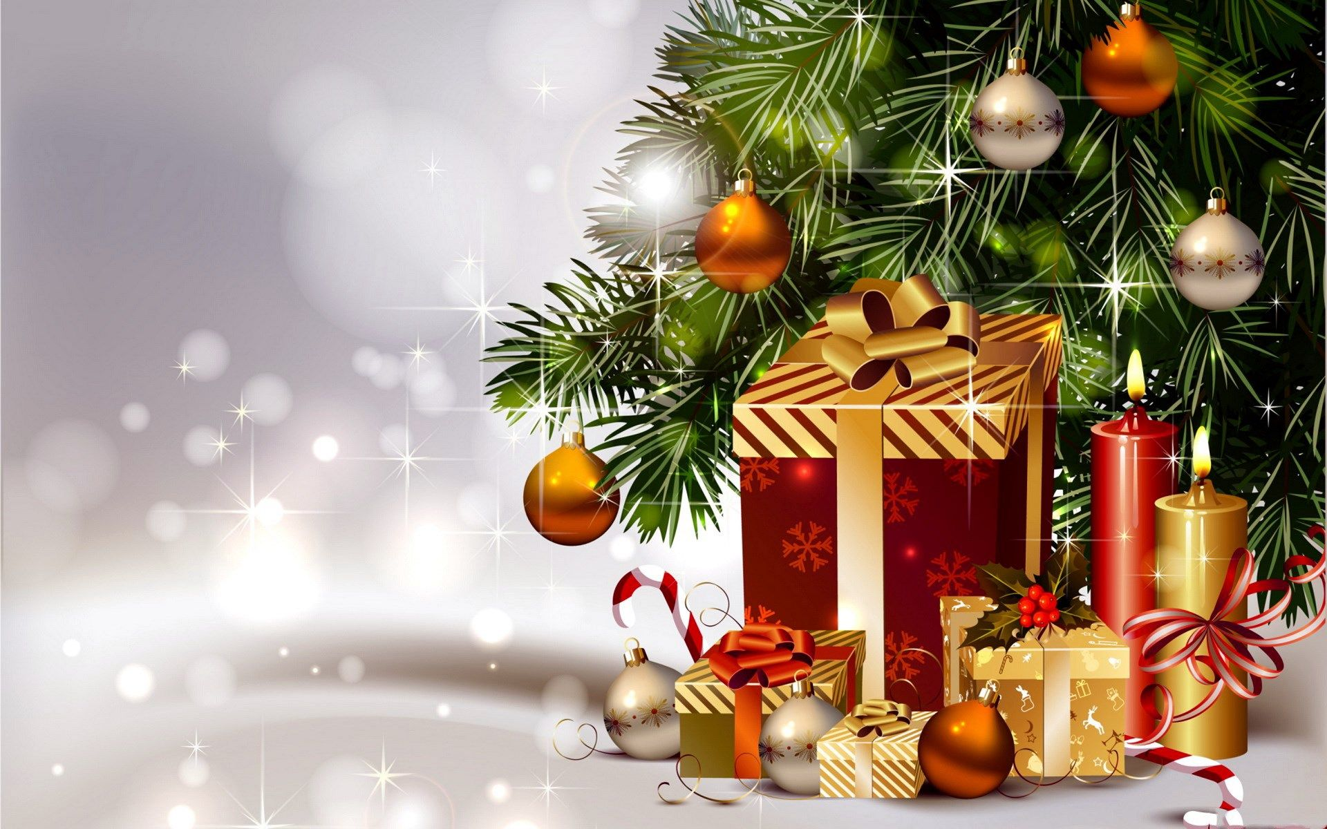 Display Gifts Merry Christmas Hd Wallpaper
