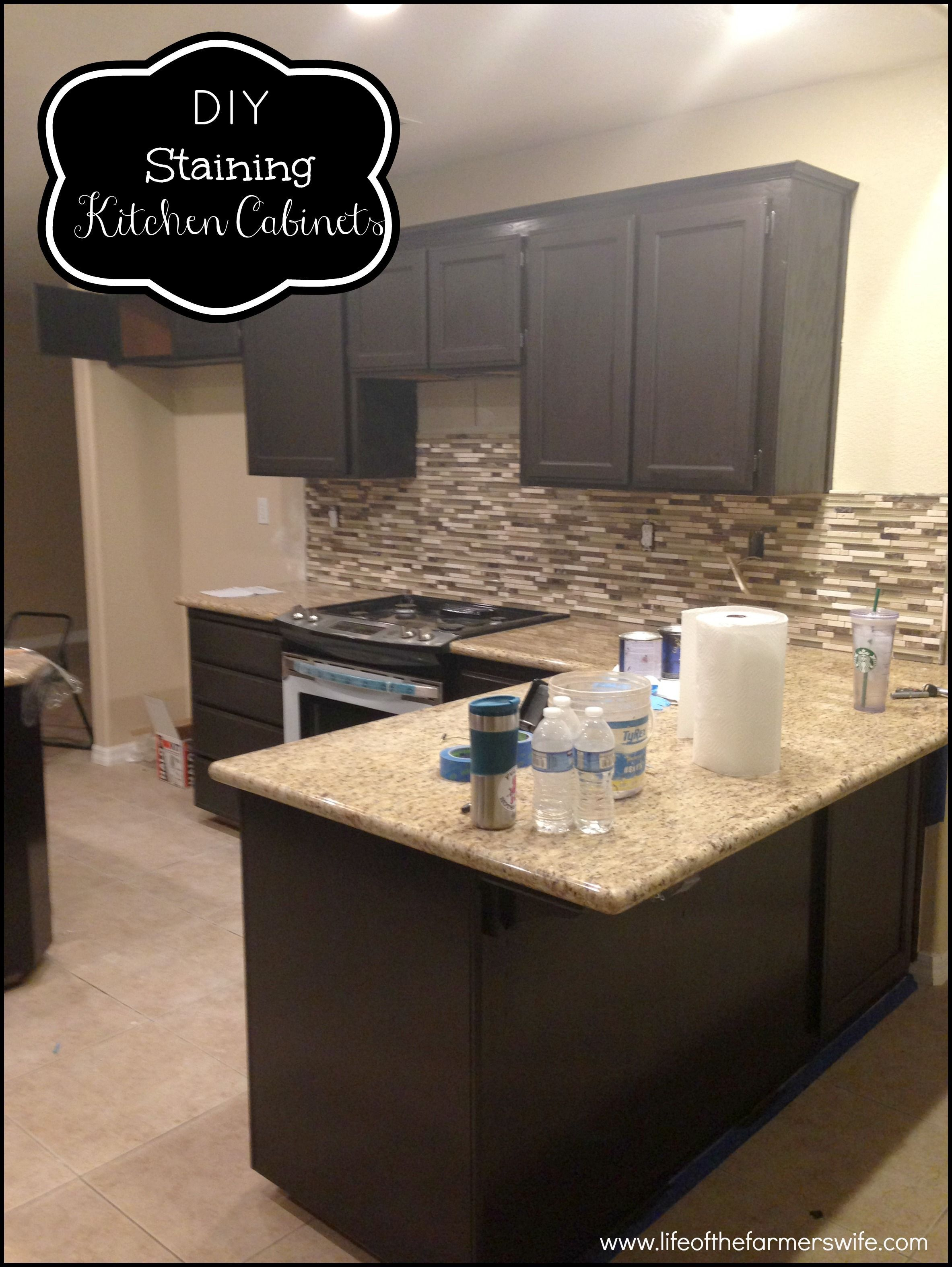 Inspirational Staining Kitchen Cabinets Darker (With ...