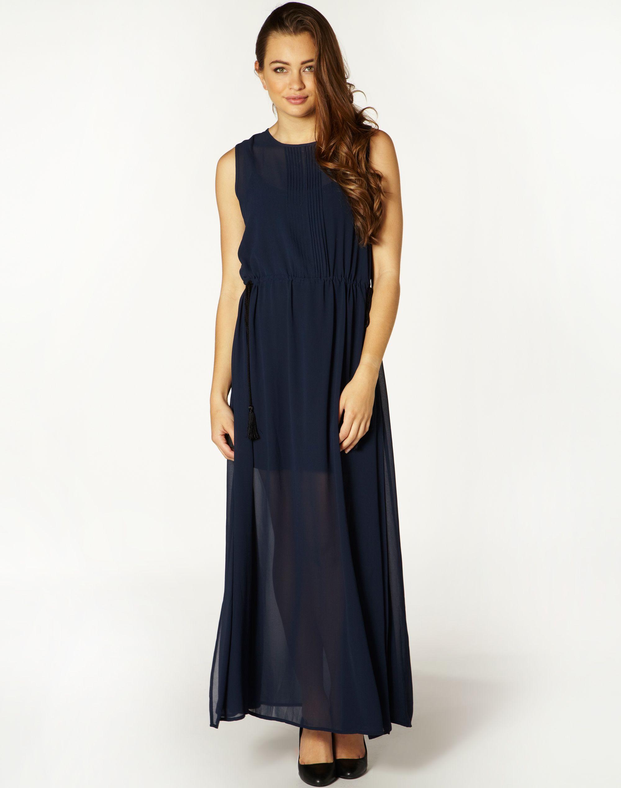 Sheer Pin Tuck Maxi Dress at Westfield Doncaster   Dresses