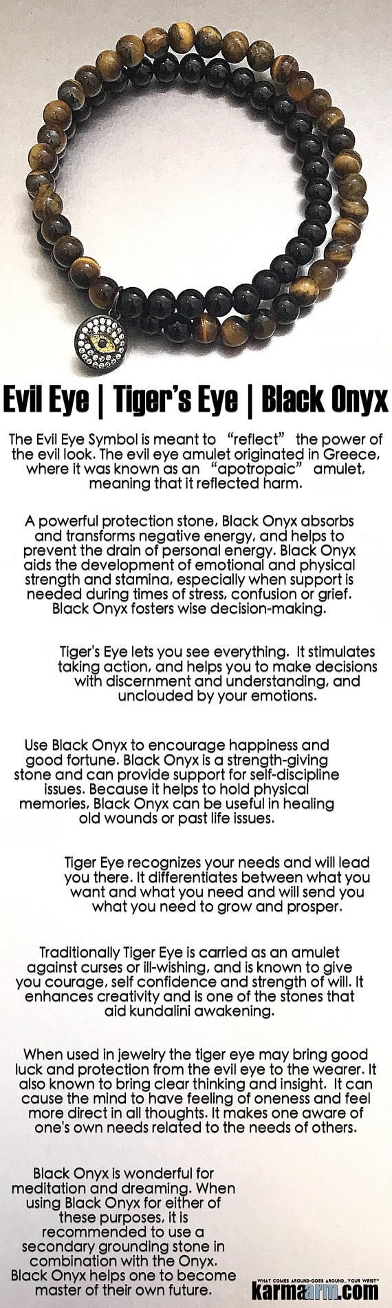 Protection black onyx tiger eye evil eye yoga beaded charm protection black onyx tiger eye evil eye yoga beaded charm bracelet chakra energy healing mala reiki meditation stretch jewelry buycottarizona