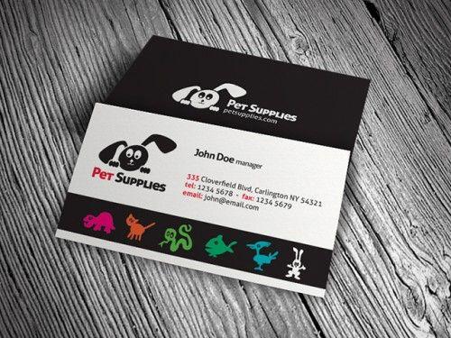 Pet Shop Supplies Business Card Template Free Download Pa00002 Free Business Card Templates Business Card Template Business Card Design