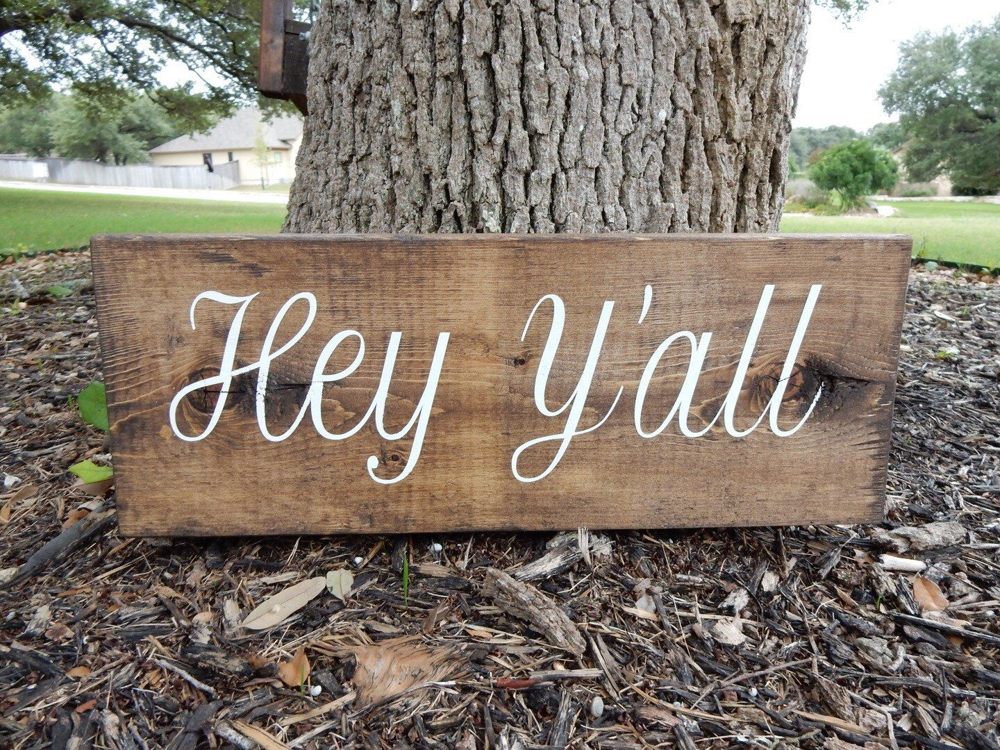 hey yall wood sign home decor custom sign by thisbusylilbee on - Custom Signs For Home Decor