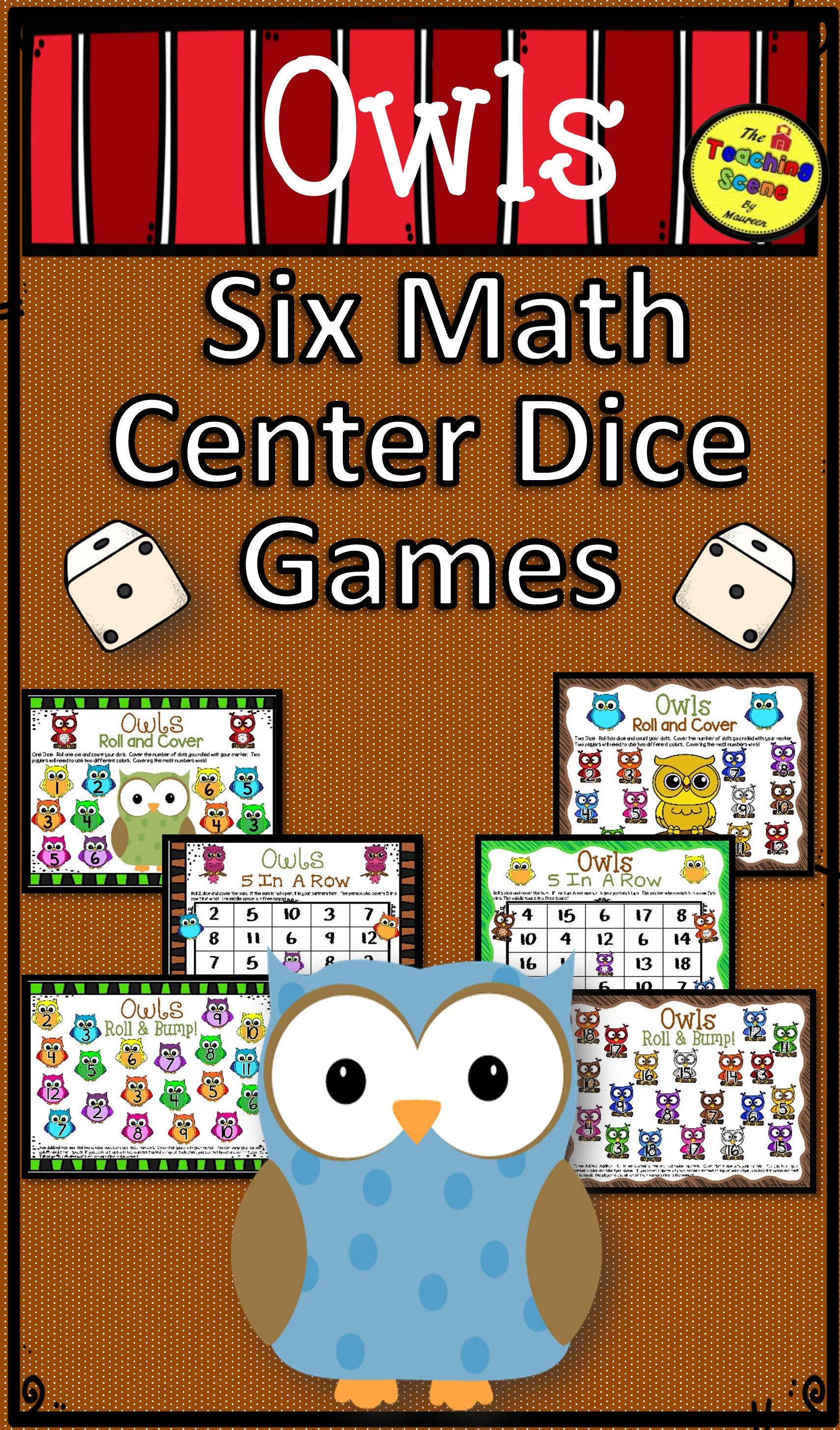 Owls Math Center Dice Games