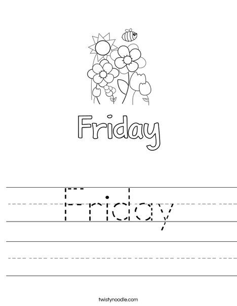 Friday Worksheet - Twisty Noodle | Educacion, Preescolar