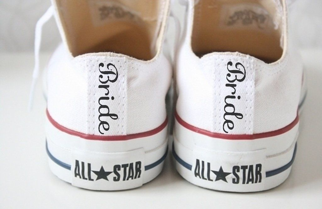 Converse All Star Classic Canvas Sneakers Bride Wedding