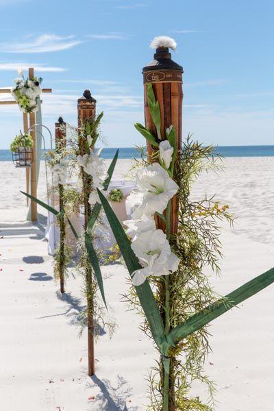 Sunset Beach Wedding Package Photo Of Tiki Torches Beautiful Orange And Gulf Shores Alabama