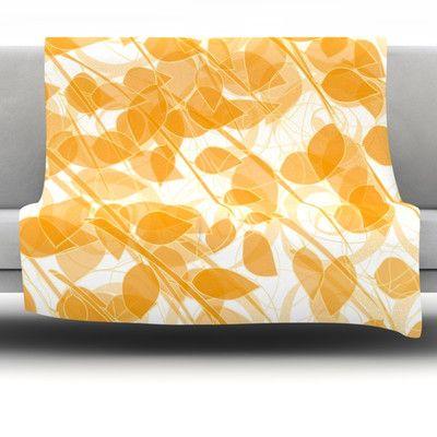 "East Urban Home Summer by Anchobee Fleece Throw Blanket Size: 80"" x 60"""