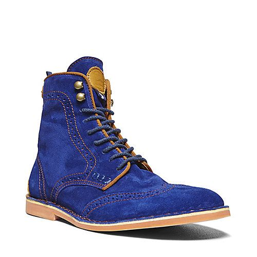 d9b1a46338d ROEBLING BLUE SUEDE men's boot casual oxford - Steve Madden   Shoes ...