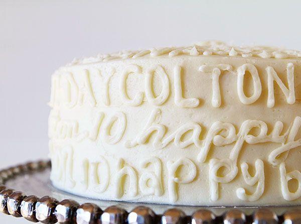 Typography Birthday Cake!  I  Am Baker