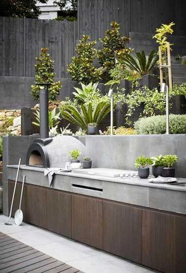 15 idées pour aménager une cuisine d\u0027été à l\u0027extérieur Jardins - plan de travail pour barbecue exterieur
