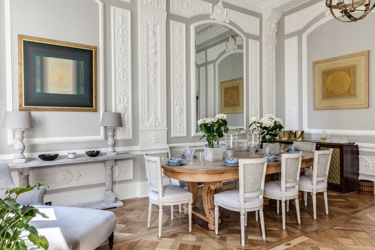 Dining Room Table Chair Wall Mirror Pendant Lamp Development Prepossessing The Strand Dining Rooms Design Inspiration