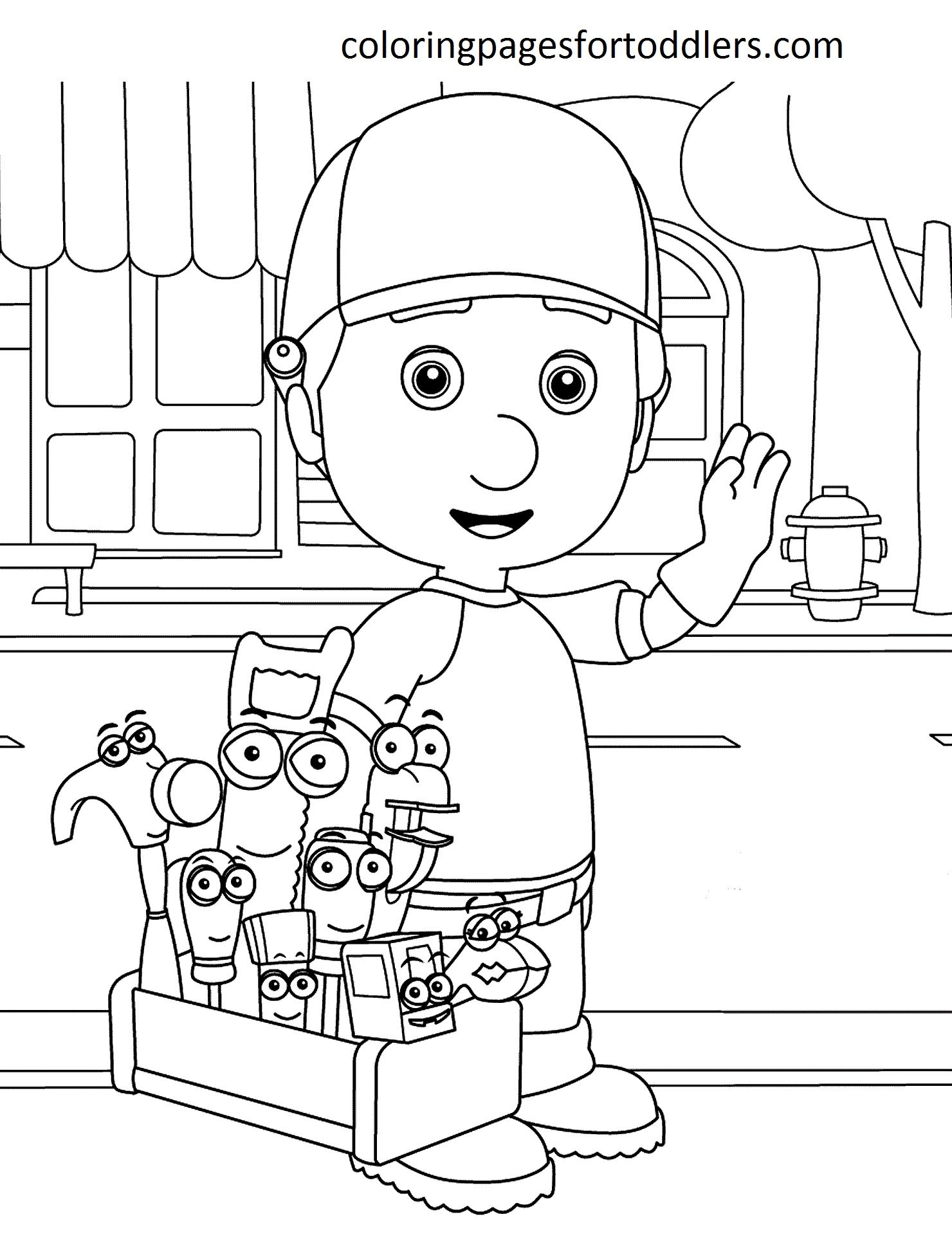 Handy Manny Coloring Pages Collection Disney Coloring Pages Disney Coloring Sheets Handy Manny