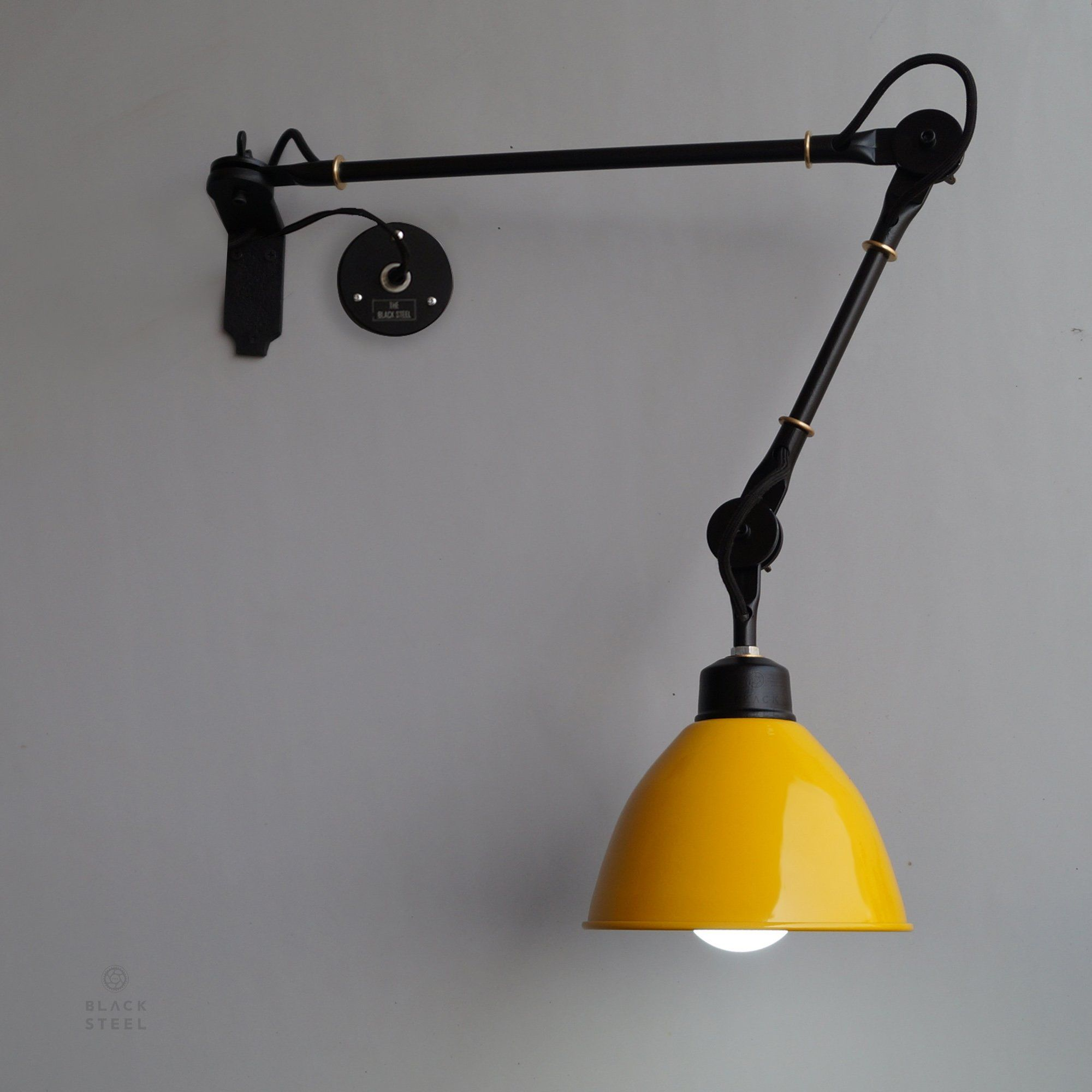 Shop Yellow Wall Lamp Industrial Swing Arm Wall Mounted Light Online Industrial Wall Lamp Wall Mounted Light Wall Lamp