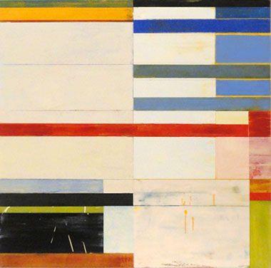 Lloyd Martin  SHIFT SERIES II  2011   Oil, mixed media on canvas   40 x 40 inches