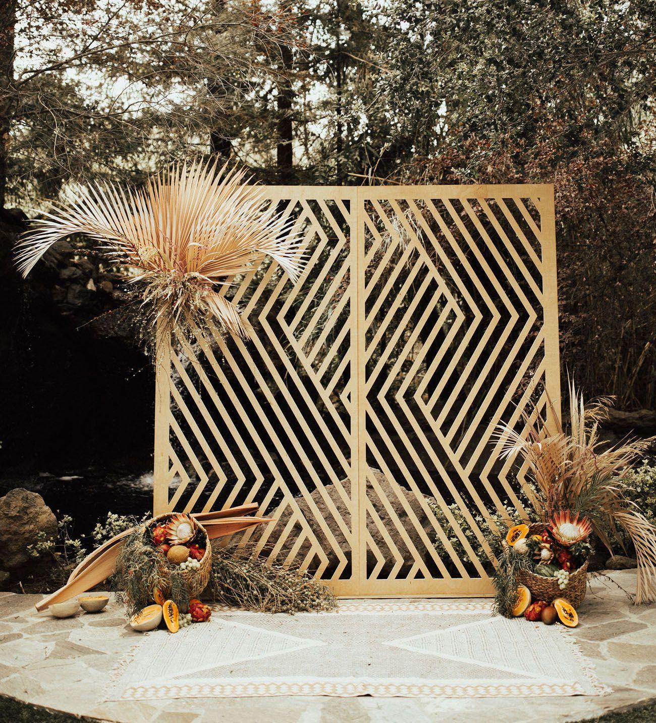 Wedding Altar Meet The Parents: Bohemian + Geometric Themes Meet In This Malibu Wedding
