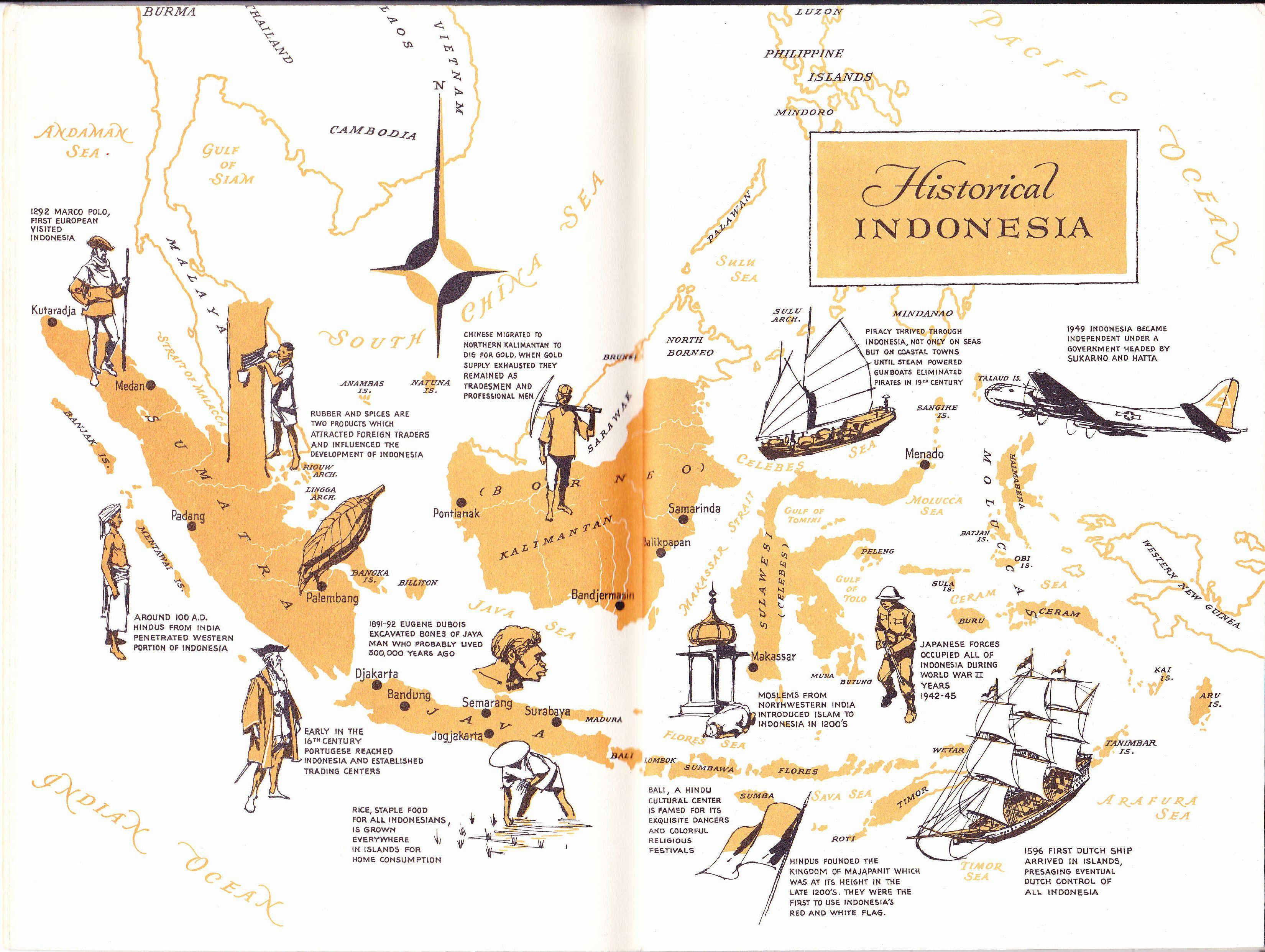 Old Map Of Historical Indonesia Kertas Dinding Illustration Ilustrasi