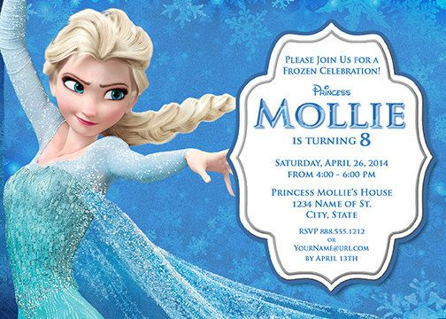 Pin By Marla Finley On Kelly Frozen Birthday Invitations Elsa Birthday Invitations Frozen Birthday Party Invites