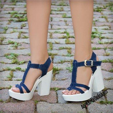 Roveda Koyu Kot Kalin Topuklu Sandalet Topuklu Sandalet Topuklular Sandalet