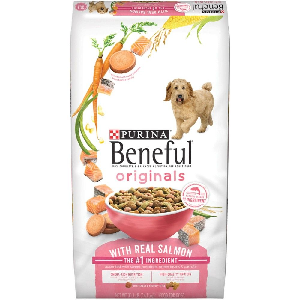 Purina Beneful Originals Real Salmon Dry Dog Food 31 1lbs Dog