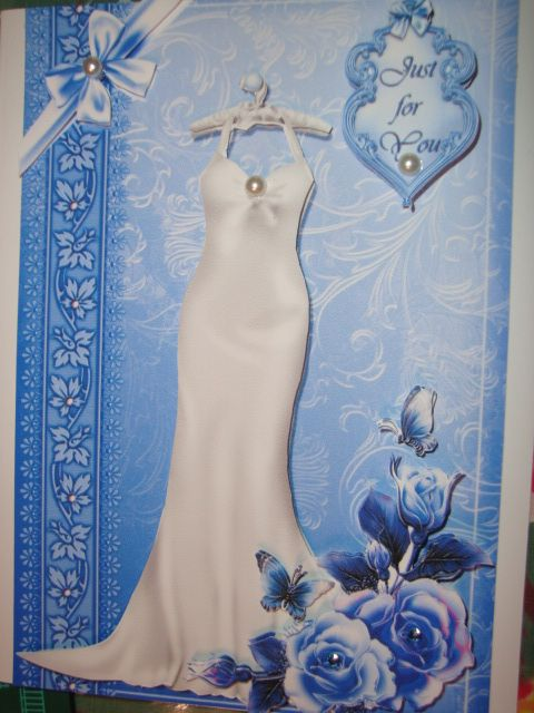 Birthday card - long silhouette white dress