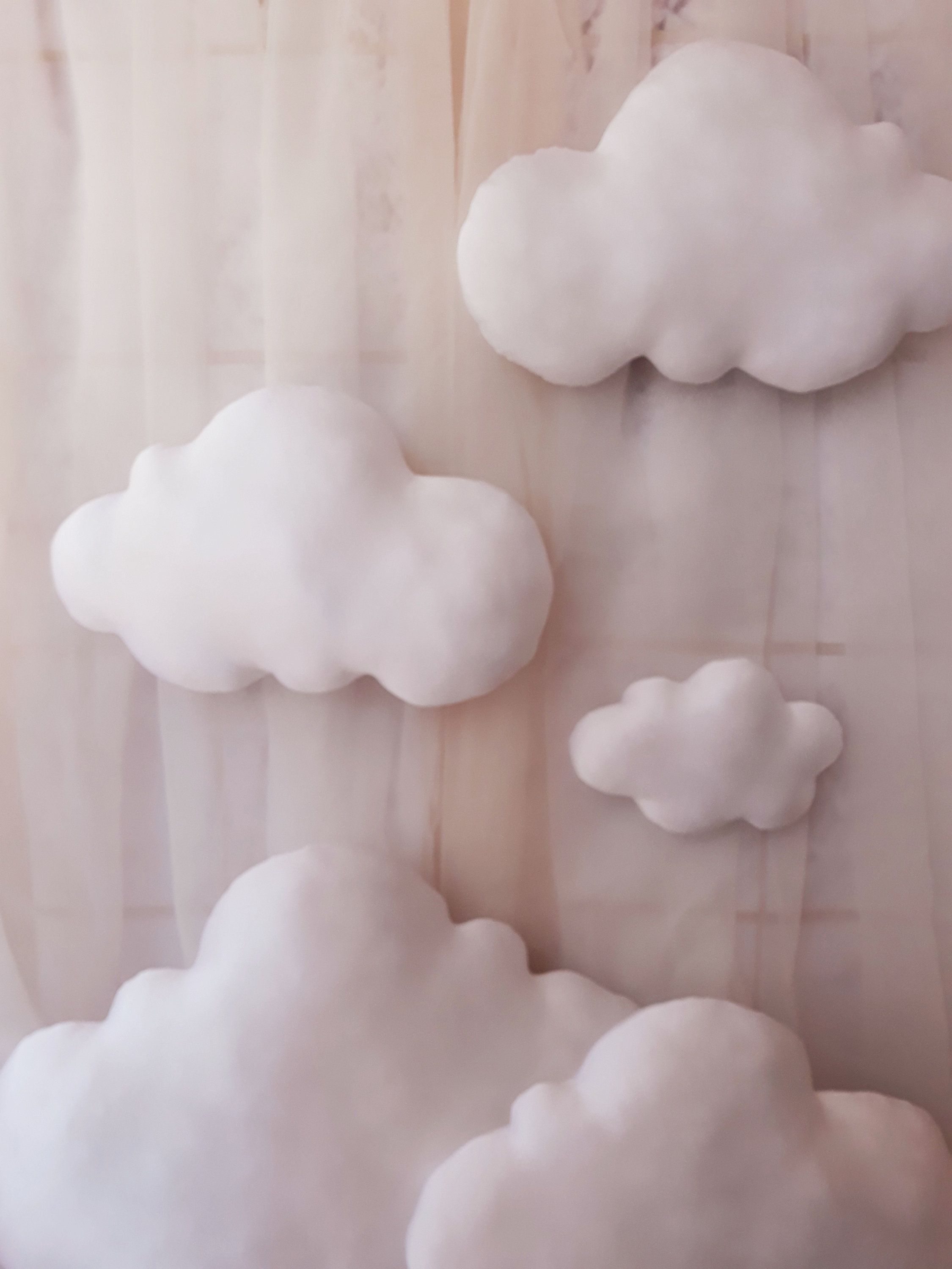 set of 5 clouds wall hanging clouds decor photo prop on wall cloud id=51038