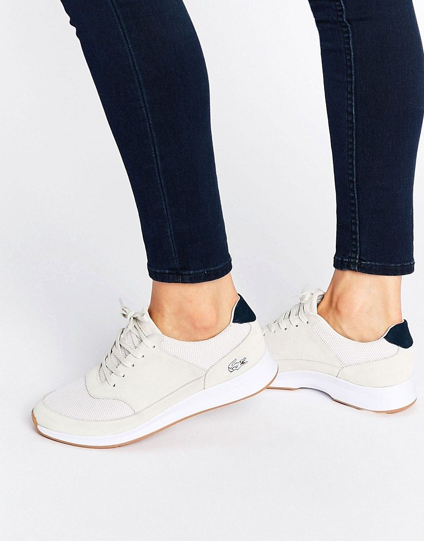 best service 3e4c7 3fa82 Image 1 of Lacoste Joggeur Lace Tonal Trainer Lacoste Shoes, Baskets, Color  Beige,