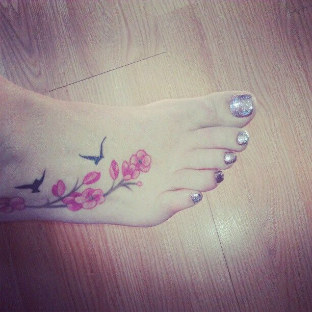 My foot tattoo and sparkle toes.