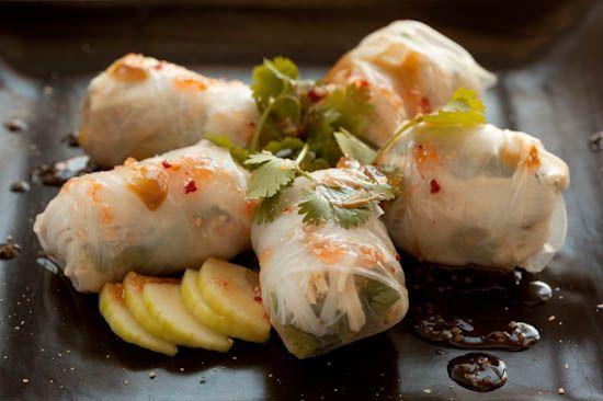 Mango spring rolls...delish!
