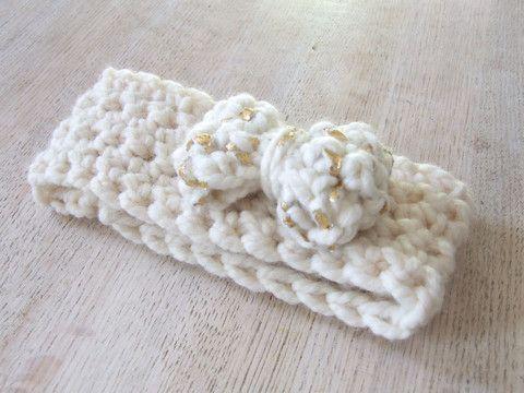 Crochet Midas Bow Headband