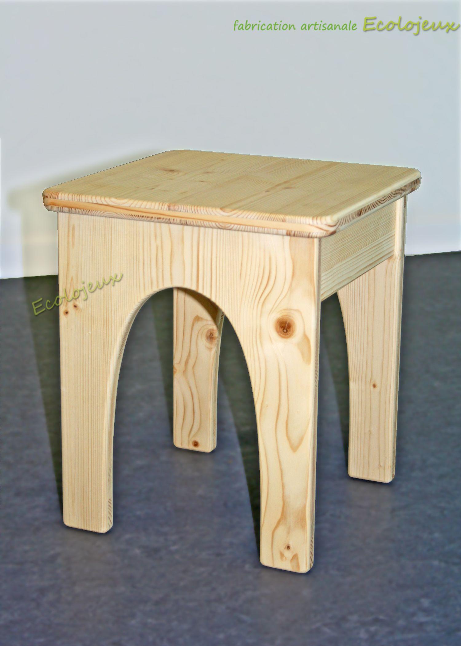 Tabouret bois Ecolojeux : Mobilier sur mesure. Fabrication ...