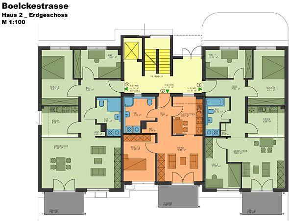 Mehrfamilienhaus bauen grundrisse Grundriss