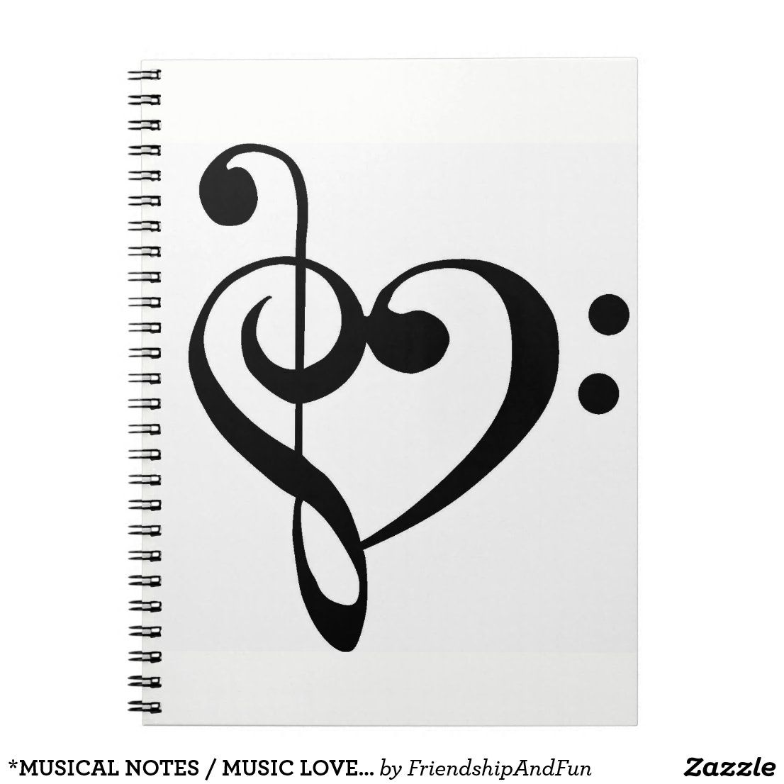 Musical Notes Music Lover S Notebook Zazzle Com In 2021 Music Notes Drawing Music Notes Art Music Notes Tattoo
