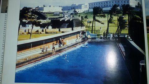 Piscina De La Base Americana En Castillo Del Morro Puerto Rico History Puerto Rico Old Photos