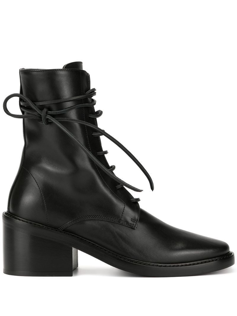 Ann Demeulemeester Lace Up Ankle Boots Black In 2020 Lace Up Ankle Boots Black Ankle Boots Boots