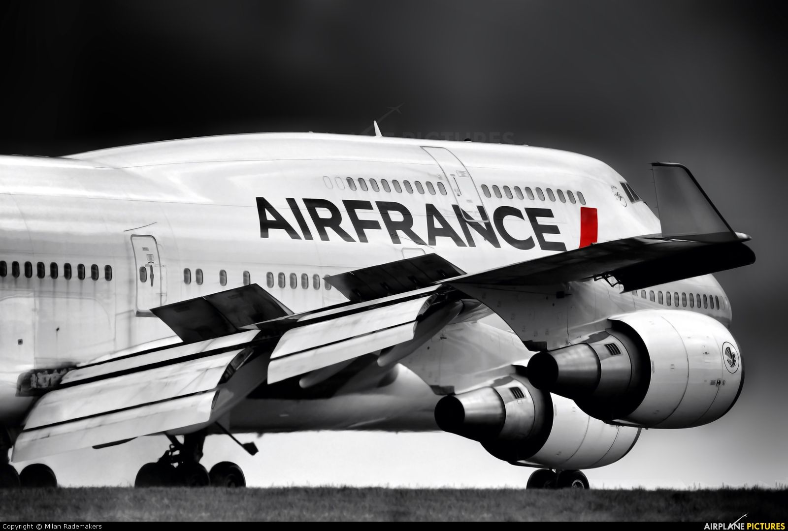 Air France Boeing 747 400 Photo By Milan Rademakers Air France Boeing 747 400 Boeing
