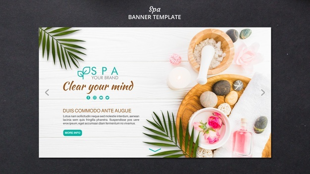 Free PSD | Beauty and spa banner template