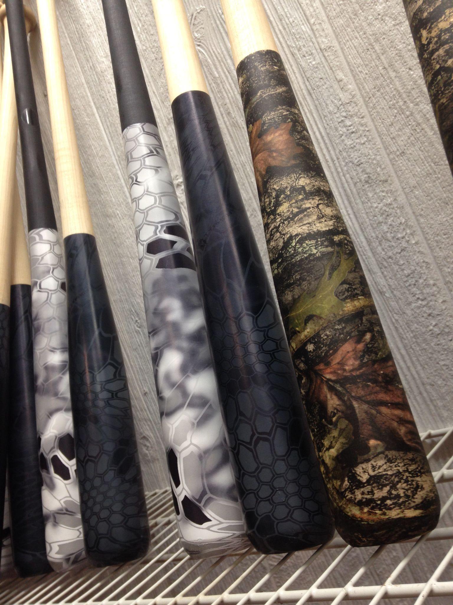 Baseball Bats Hydro Dipped