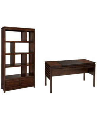 Lansing Home Office Furniture 2 Piece Set Desk And Bookcase
